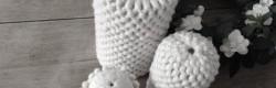 Urnes funéraires en laine feutrée sur âme en grès, 2014