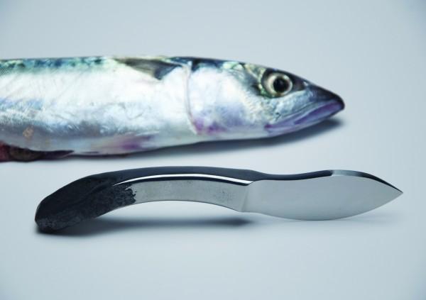 ASPIC, couteau de poche entièrement forgé  - 2013. Prototype: Marc Rouvet, coutelier.