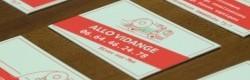 Carte de visite réalisée pour Allo Vidange.