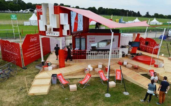 Stand Coca-Cola festivals de musique  2015