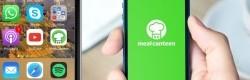 Ecran de démarrage et icone de l'appli mobile Meal Canteen