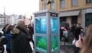 EVASION URBAINE (la cabine téléphonique aquarium)