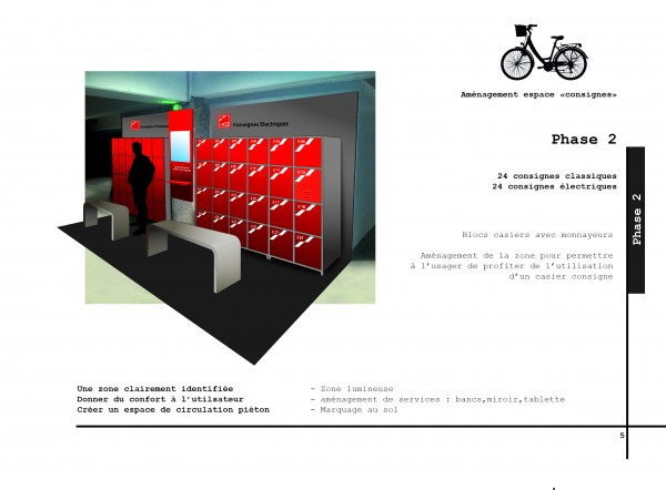 page du cahier de préconisations en cours le design du mobilier spécifique