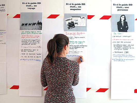 Travail de réflexion et de co-conception avec les agents de la Région