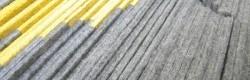 Expérimentations matériaux à base de feutre.
