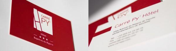 logo et carte de visite de Carré Py' Hôtel