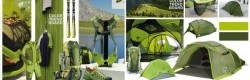Planche tendance couleurs du marché randonnée, salon international Outdoor 2012.