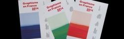 Les 3 versions de la couverture de Graphisme en France 2014.